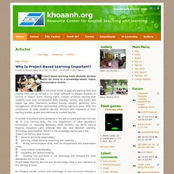Why Is Project-Based Learning Important? :: TESOL/TESL/TEFL/EFL/ESOL/ESL Resources :: Articles | Ebooks | Games | Links | Forum | Toelf iBT | Toeic