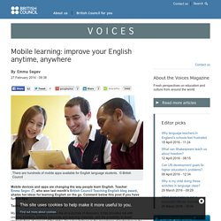Mobile learning: improve your English anytime, anywhere