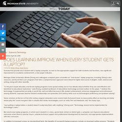 Does learning improve when every student gets a laptop?
