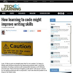 How learning to code might improve writing skills