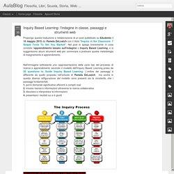 AulaBlog: Inquiry Based Learning: l'indagine in classe, passaggi e strumenti web