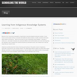 Learning from Indigenous Knowledge Systems