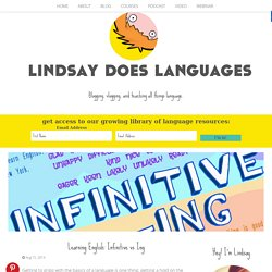 Learning English: Infinitive vs Ing - Lindsay Does Languages