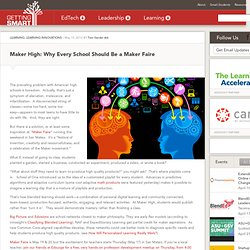 Maker High: Why Every School Should Be a Maker Faire