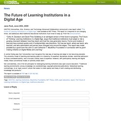 The Future of Learning Institutions in a Digital Age - Creative