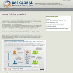 IMS Global: Learning Tools Interoperability