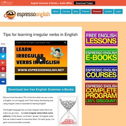 Tips for learning irregular verbs in English
