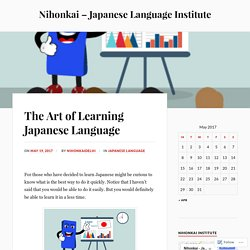 The Art of Learning Japanese Language