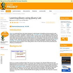 Learning jQuery using jQuery Lab