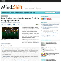 Best Online Learning Games for English Language Learners