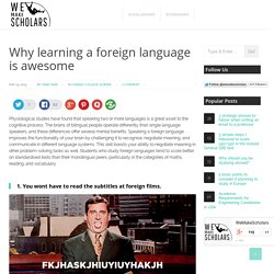 Why learning a foreign language is awesome