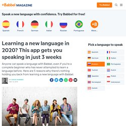 Learning a new language in 2020? This app gets you speaking in just 3 weeks