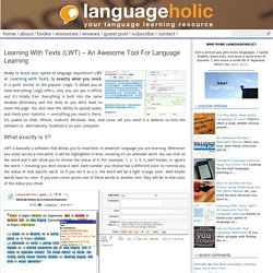 Learning With Texts (LWT) – An Awesome Tool For Language Learning