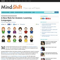 A New Role for Avatars: Learning Languages