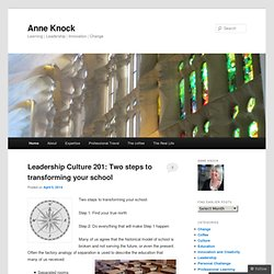 Anne Knock: Learning everywhere today