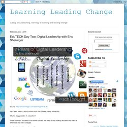 Learning Leading Change: EduTECH Day Two: Digital Leadership with Eric Sheninger