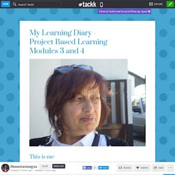 My Learning Diary - Project Based LearningModules 3 and 4