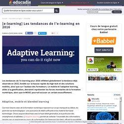 [e-learning] Les tendances de l'e-learning en 2016