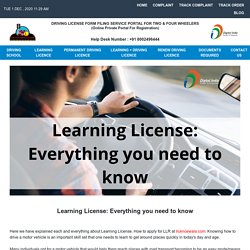 Learning License: Everything you need to know