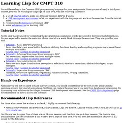 Learning Lisp for CMPT 310