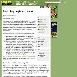 Learning Logic at Home