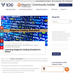 Learning Magento Coding Standard in Detail
