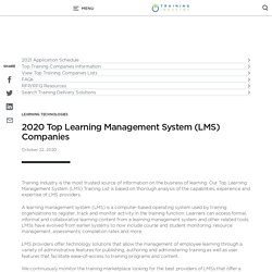 2020 Top Learning Management System (LMS) Companies