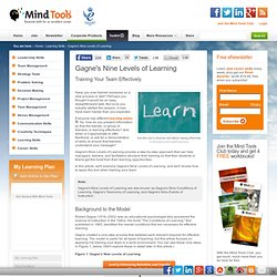 Gagne's Nine Levels of Learning - Team Management Training From MindTools
