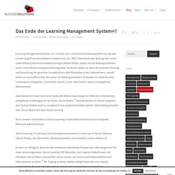 Das Ende der Learning Management Systeme? - Blended Solutions GmbH