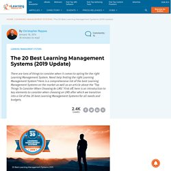 The 20 Best Learning Management Systems (Update 2017)