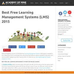 Best Free Learning Management Systems (LMS) 2014