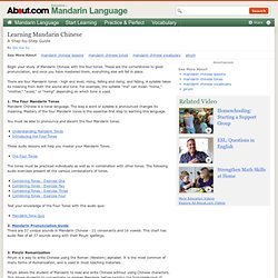 Learning Mandarin Chinese - A Step-by-Step Guide to Learning Mandarin Chinese