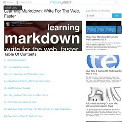Learning Markdown: Write For The Web, Faster