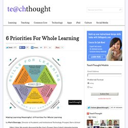 Making Learning Meaningful: 6 Priorities For Whole Learning