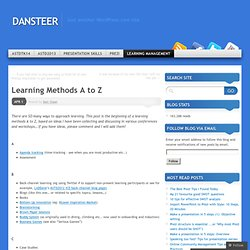 Learning Methods A to Z