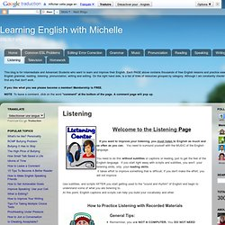 Learning English with Michelle: Listening