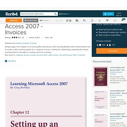 Learning Microsoft Access 2007 - Invoices