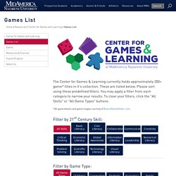Learning Games List MidAmerica Nazarene Universit