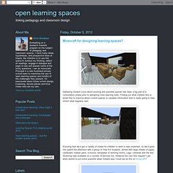 Minecraft for designing learning spaces?