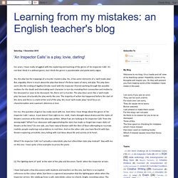 Learning from my mistakes: an English teacher's blog
