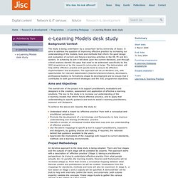 e-Learning Models desk study