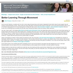 Better Learning Through Movement - Computer Science Teacher - Thoughts and Information from Alfred Thompson
