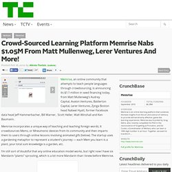 Crowd-Sourced Learning Platform Memrise Nabs $1.05M From Matt Mullenweg, Lerer Ventures And More!