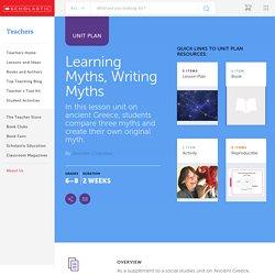 Learning Myths, Writing Myths