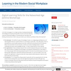 Digital Learning Skills for the Networked Age (Online Workshop)