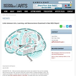 Links between Arts, Learning, and Neuroscience Examined in New NEA Report