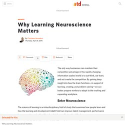 Why Learning Neuroscience Matters