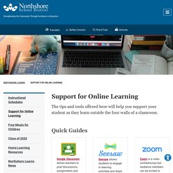 Support for Online Learning - Northshore School District