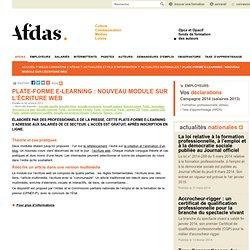 Plate-forme e-learning : nouveau module sur l'écriture web