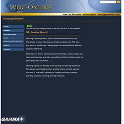 wisc online learning objects